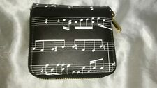 MUSIC NOTE WALLET CHANGE COIN PURSE