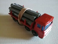 Vintage Matchbox No.10 Red Pipe Truck - No Box - Near Excellent