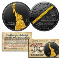 American Innovation State $1 Coin 2018 1st Release - BLACK RUTHENIUM & 24K GOLD