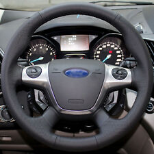 Leather Steering Wheel Cover for 2012 2014 2016 Ford Focus Sedan / Escape SUV
