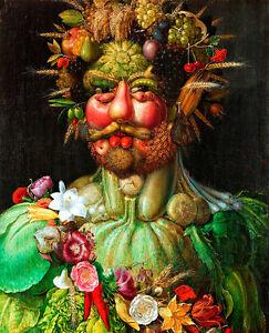 Rudolf II of Habsburg as Vertumnus A1+ by Giuseppe Arcimboldo Canvas Print