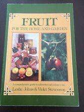 """Fruit For The Home And Garden"" Leslie Johns & Violet Stevenson, Softcove  *VGC*"