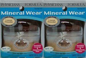 Lot 2 Physicians Formula Mineral Wear Loose Powder Foundation 2453 Natural Beige