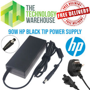 Genuine HP 90w Charger PSU - 19.5V 4.62A - 7.4mm*5mm Tip + Optional Power Cable