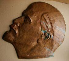 Russian Soviet USSR bronze bas-relief Lenin propaganda 74cm 29in brass cooper
