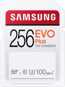 Samsung EVO Plus 256GB SDXC UHS-I U3 HD 4K micro SD Speicherkarte UHS Class 3