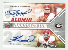 Matthew Stafford Knowshon Moreno 2009 UPPER DECK DUAL ROOKIE AUTO CARD 15 SIGNED