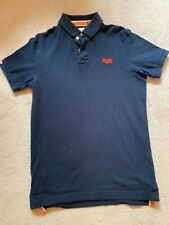 MEN'S SUPER DRY NAVY BLUE POLO SHIRT TOP SIZE XL GOOD CONDITION