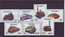TANZANIA - SG1082-1088 MNH 1991 LOCOMOTIVES OF THE WORLD