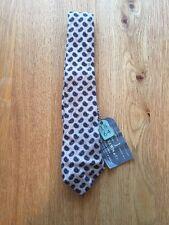 John Lewis Mens Paisley Print Beige Tie Brand New RRP £39