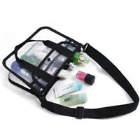 Portable Waterproof Cosmetic Makeup Toiletry Clear Travel Wash Bag With Handle S