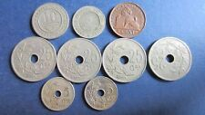 Belgien Lot 1 Centimes bis 25 Centimes 9 Stück in ss bis vz (L104)