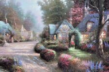 "Thomas Kinkade ""Cobblestone Lane I"" Limited Edition Canvas Lithograph 1988 S/N"