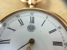 Humbert Ramuz 18k Pocket Watch 28mm