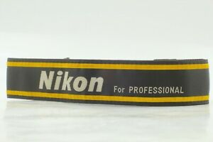 【NEAR MINT】 NIKON For Professional Yellow Wide Neck Strap For SLR From JAPAN #2