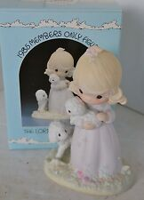Precious Moments Porcelain Figure 1984 The Lord Is My Shepard With Box