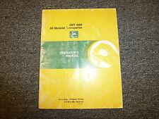 John Deere Model Amt600 All Material Transporter Owner Operator Manual Omw38899