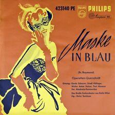 """7"""" FRED RAYMOND Maske in Blau GERDA SCHEYRER Operette PHILIPS MINIGROOVE EP 1957"""