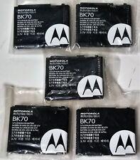 Lot of 5 New Motorola Bk70 Oem Snn5792 Li-Ion Cell Phone Battery 1000mAh