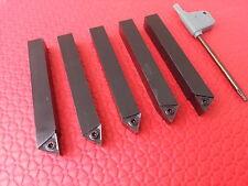 5pc Drehbank Werkzeug Set Indizierung Carbid Spitze Schneidend 12mm Quadrat Für