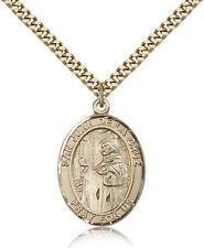 "San Juan De La Cruz Medal For Men - Gold Filled Necklace On 24"" Chain - 30 Da..."