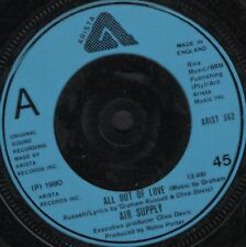 """AIR SUPPLY all out of love uk arista ARIST 362 7"""" WS EX/"""