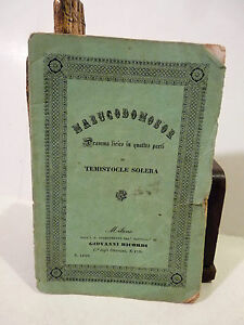 Giuseppe Verdi - Temistocle Solera: Nabucodonosor 1842 Ricordi Opera Libretto