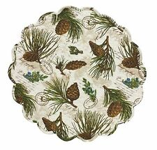 Park Designs Walk In The Woods Round Place Mat Set of 6 Quilted Table Mat