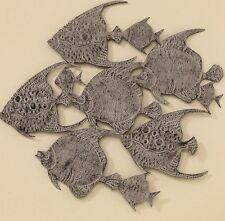 XL objeto de pared Pescado peces Cardumen metal decoración Colgante