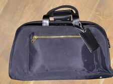 NOMAD LANE Bento Carry-On Travel Bag with Brass Hardware - Black & Blue / READ!