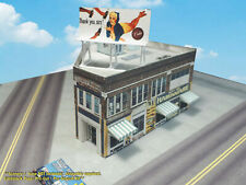 Z Scale Building - Hardware Store -  PRE-CUT Card Stock (PAPER) Kit  BBZ1