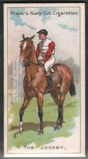 Jockey Mounted On Racehorse Riding Equestrian 100+ Y/O Trade Ad Card