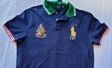 Polo Ralph Lauren Men's Golden Big Pony L Size Custom Fit Polo Shirt