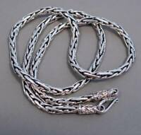 """HANDMADE WOVEN SNAKE 925 STERLING SILVER MENS NECKLACE ROPE CHAIN 18 20 24 26"""""""