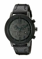 Citizen Eco-Drive Men's BRT Chronograph Leather Strap 46mm Watch AT2205-01E