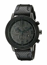 Citizen Eco-Drive Men's AT2205-01E BRT Chronograph Leather Strap 46mm Watch
