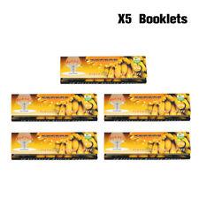 5 Packs HORNET 78*44MM Banana Fruit Flavored 1 1/4 Size Cigarette Rolling Papers