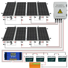 8-200W 1600W Watt 24 Volt Complete Solar Panel System For Home Garden Farm