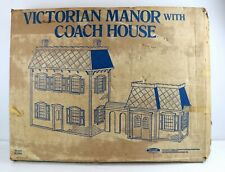 Victorian Manor With Coach House Doll House Made by Skilcraft in Box