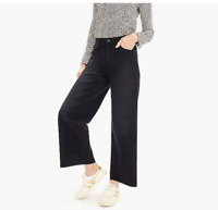 POINT SUR Wide Leg Crop Black Jeans 30 Cotton Made in USA J4295 NEW