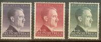 Stamp Germany Poland General Gov't Mi 101-3 Sc NB24-6 WWII Hitler Birth 1943 MNH