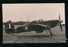 Military Aviation RAF THE HURRICANE c1940/50s? RP PPC