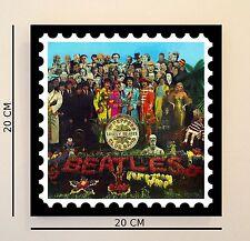 Retro Pop Art Beatles Sgt Pepper 8 INCH Picture Tile Gift Idea FREE UK P&P