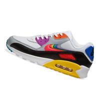 NIKE MENS Shoes Air Max 90 - White, Multicolour & Black - CJ5482-100