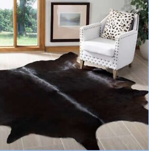Safavieh Cowhide Rug Authentic Leather Rug Suze Approx 4ft x 6ft
