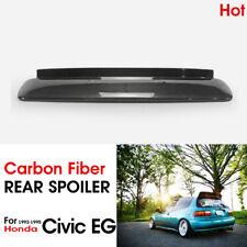 For Honda Civic EG 92-95 Carbon BYS Style JDM Rear Visor Spoiler Wing Part 3Door