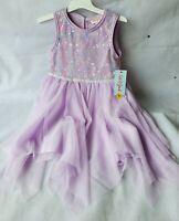 Cat & Jack Lilac Sequin Princess Dress Size 4T