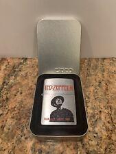 """RARE Led Zeppelin Zippo Lighter """"TOUR OVER EUROPE 1980"""" #20144 USA (New, Open)"""