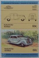 1938 PANHARD DYNAMIC Car Stamps (Leaders of the World / Auto 100)