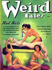 RIVISTA COVER 1936 WEIRD TALES Red NAILS NEW art print poster foto cc3234